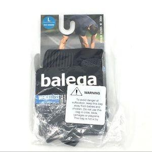 Balega no show socks black size large  NEW